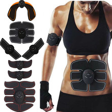 Estimulador muscular sem fio unisex abdominal ems muscular trainer corpo fitness hip trainer moldar remendo sliming trainer massageador