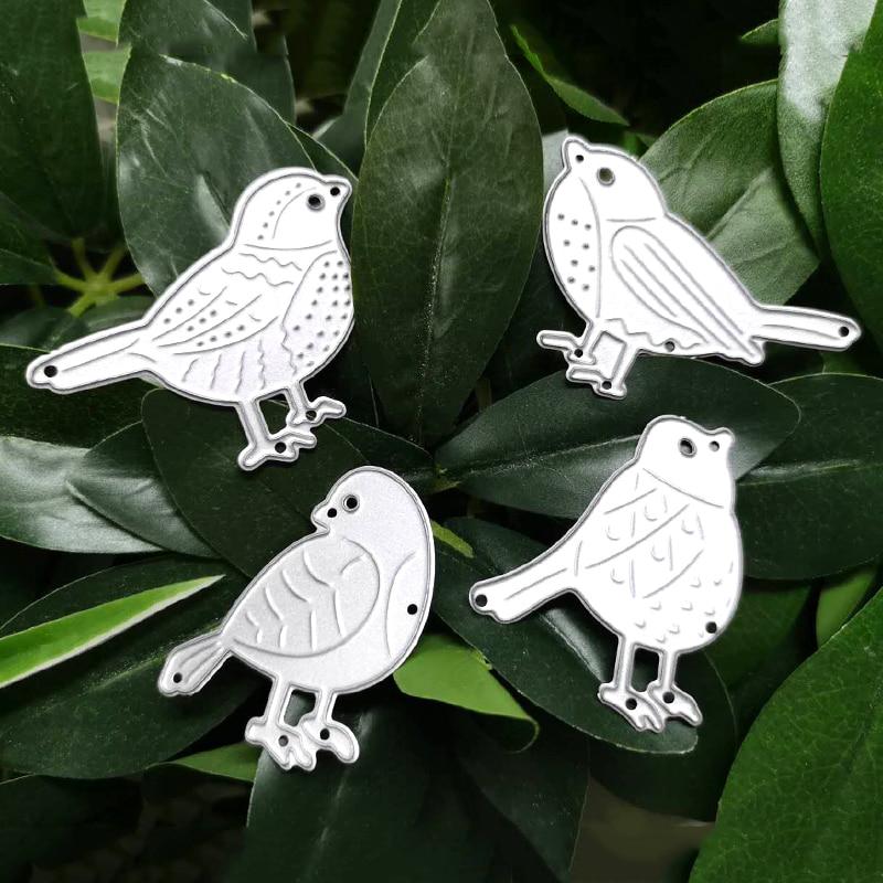 DoIce Vita 4pcs Bird Dies Animal Metal Cutting Dies Scrapbooking Die Cut for DIY Paper Card Making Craft Template