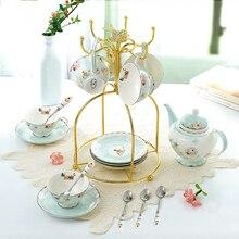 Europe Luxruy  Bone China Coffee Tea Set British Porcelain Ceramic Pot Creamer Sugar Bowl Teatime Teapot Coffee Cup Mug