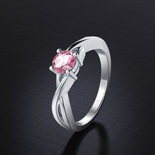 Silver 925 Jewelry Ring Zircon Female Engagement Wedding Fashion Boutique Size 6-9