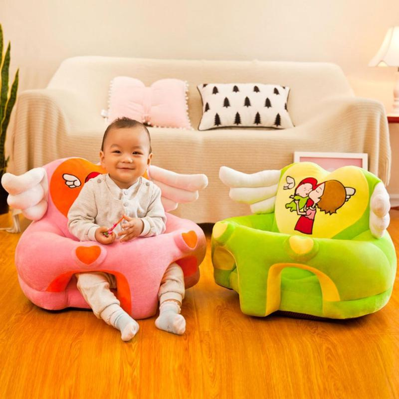 Kid Sofa Support Seat Cover Learning To Sit Plush Comfortable Toddler Nest Puff Washable Cover Skin For Baby Sofa Without Filler