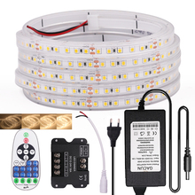 Dimmable LED Strip Light with Dimmer 12V 24V IP67 Waterproof LED Tape 2835 120Leds/m Flexible Ribbon Natural Warm White 1-10m