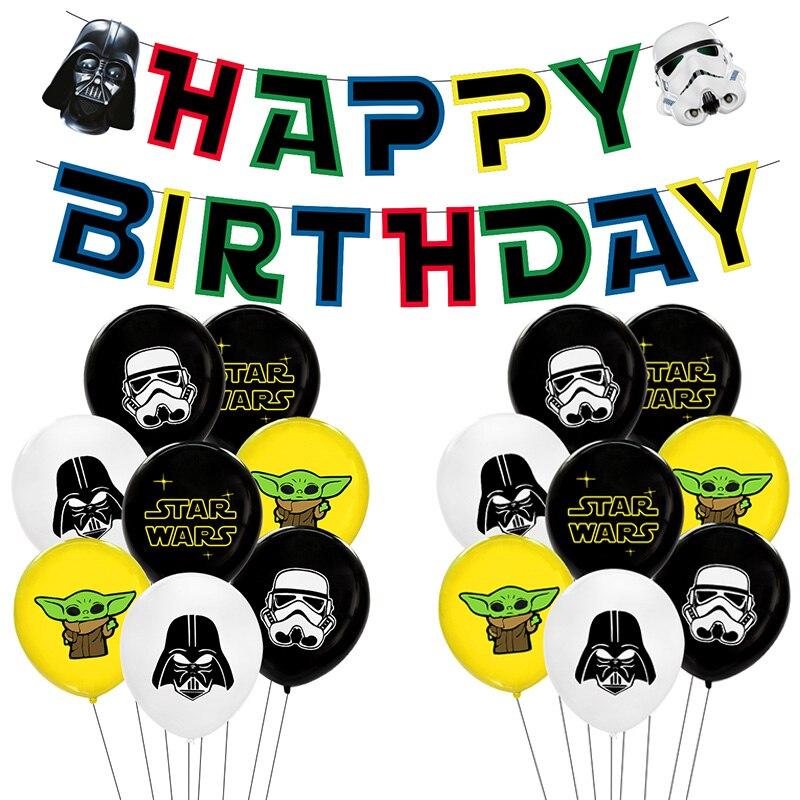 """""""Звездные войны"""", воздушные шары, комплект с принтом «Звездные войны» День рождения украшения Мастер Йода воздушные шарики, детские игрушки Globos cumpleaños Infantiles"""