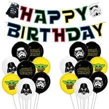 Star wars balões conjunto star wars festa de aniversário decoração mestre yoda balão crianças brinquedos globos cumpleanos infantil