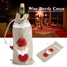 Sneeuw Man Wijnfles Cover Tassen Diner Party Gift Kerstman Gift Bag Kerst Decoraties(China)