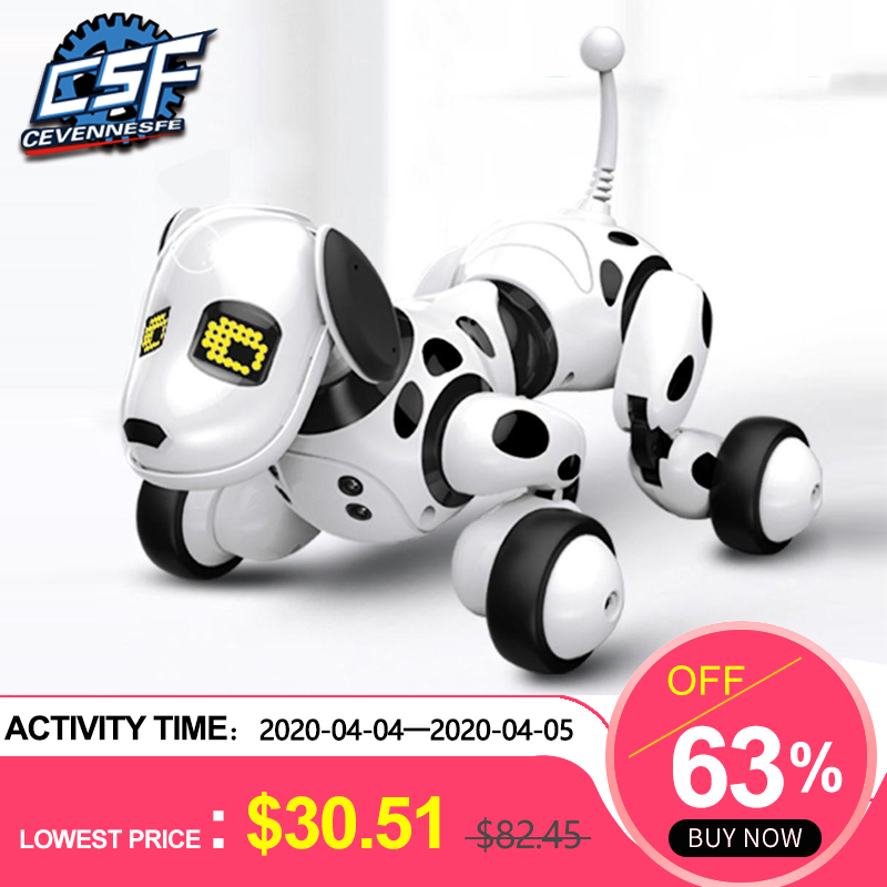 2020 New Remote Control Smart Robot Dog Programable 2.4G Wireless Kids Toy Intelligent Talking Robot Dog Electronic Pet Kid Gift