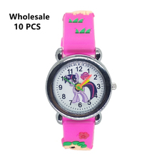 (Wholesale 10 Pcs) Simple Kids Watches Lovely Pony Children