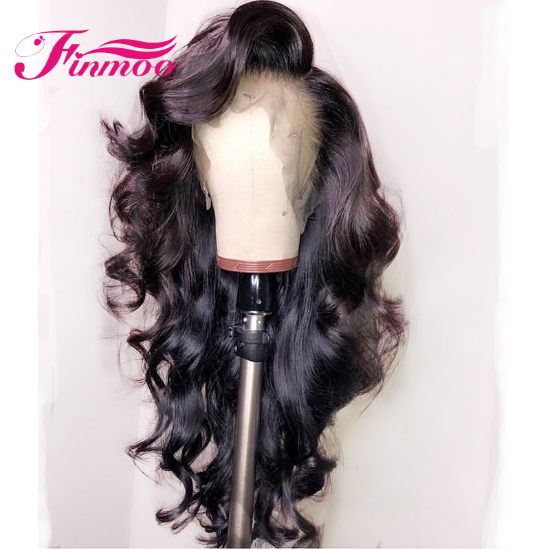 Body Wave 360 Lace Frontal Wig Brazilian Remy Hair Lace Front Human Hair Wigs With Baby Hair Natural Black Color Pre Plucked