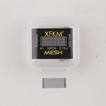 XFKM 10 sztuk partia siatki pracy wstępnie zbudowane cewki siatki styl cewki drutu dla Vandy Vape Rtas Wotofo profil Rda tanie i dobre opinie Wstępnie utworzonych Cewki mesh coil Metal mesh rda rta rdta