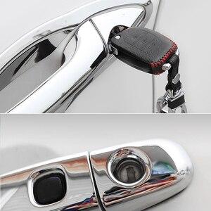 Для Citroen C-Elysee 2012 ~ 2019 хромированная крышка для дверных ручек, накладка, украшение для автомобиля, литье, отделка, накладной протектор, Стайлин...