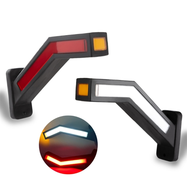 2pcs 12 24V 33 LED Trailer LED Side Marker Lighting Outline Marker Truck Light For Trailer Truck Lorry Truck Waist L Dropship