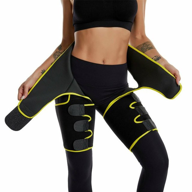 Three-in-one Yoga shorts hip belt explosion sweat belt sports bodybuilding adjustable durable waist belt leg belt Yoga shorts 3