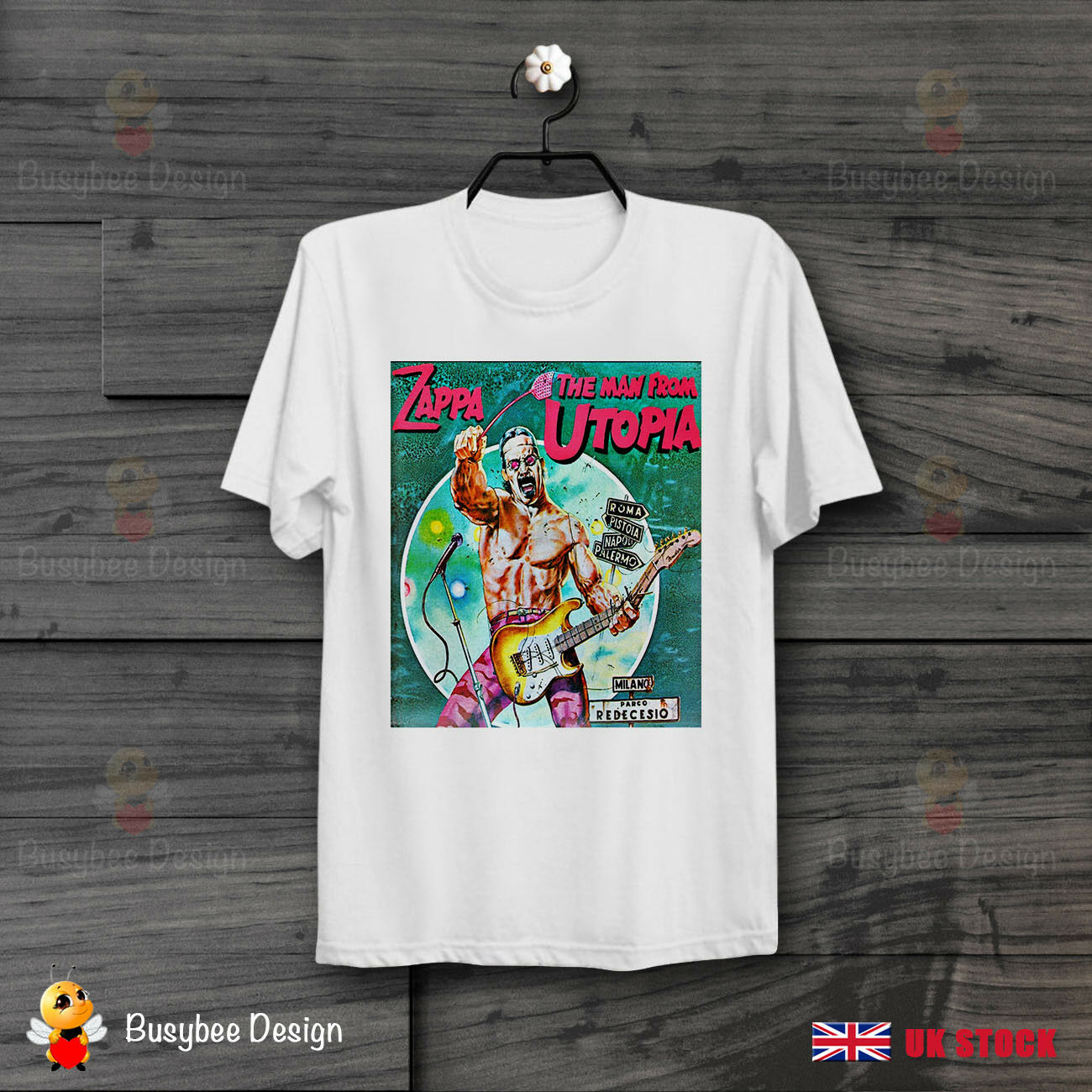 Frank Zappa The Man From Utopia Soundtrack Cool Vintage T Shirt B374 Mens Short Sleeve Tees image