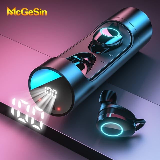 X8 TWS אלחוטי Bluetooth אוזניות סטריאו אוזניות IPX6 עמיד למים מיני ספורט Earbud Hifi קול מגע בקרת אוזניות עם מיקרופון