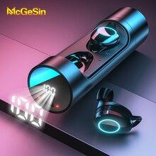 X8 TWS 무선 블루투스 이어폰 스테레오 헤드셋 IPX6 방수 미니 스포츠 이어 버드 마이크와 Hifi 사운드 터치 컨트롤 이어폰