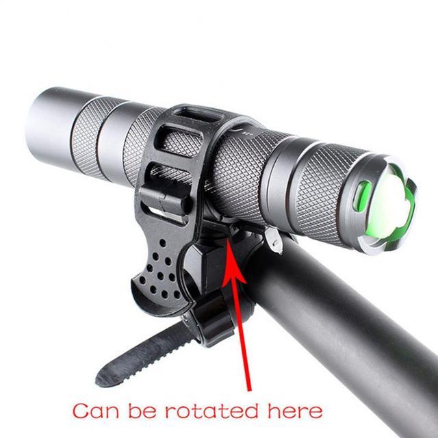 360 graus de bicicleta bicicleta lanterna montar titular da luz da bicicleta lanterna ajustável suporte da lâmpada ciclismo acessórios 3