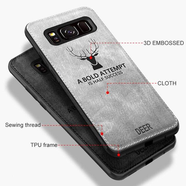 Cloth Fabric Deer Case For Samsung Galaxy A50 A40 A70 A20 A10 A30 Back Case For Samsung S8 S9 S10 Plus S10e S10 A7 2018 Capa 5