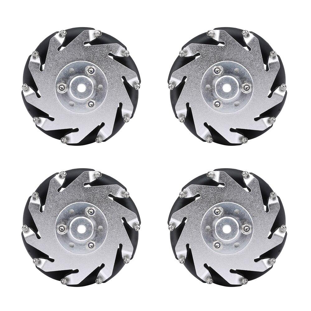 4 pces 60mm mecanum roda com 6mm cubos 15kg de carga para raspberry pi arduino projeto