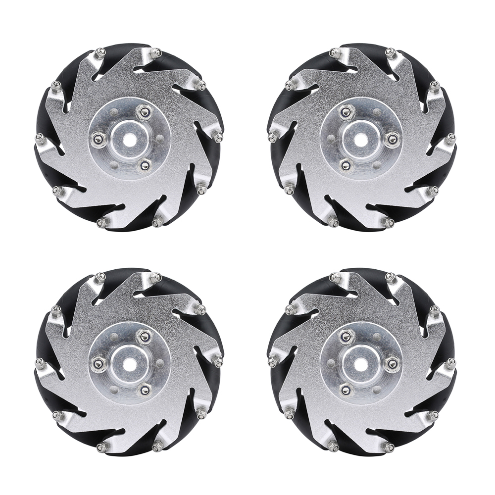 4pcs 60mm Mecanum Wheel with 6mm Hubs 15kg Load for Raspberry Pi /Arduino Project Long Service Life No Deformation RC Car Model