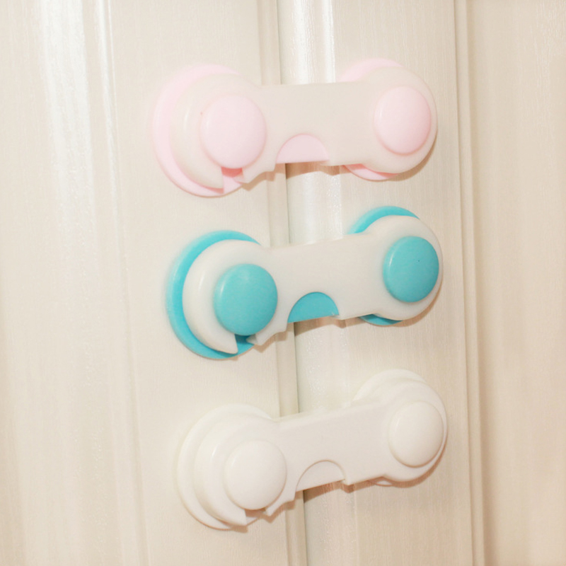4pcs/lot Multi-function Child Baby Safety Lock Cupboard Cabinet Door Drawer Safety Locks Children Security Protector