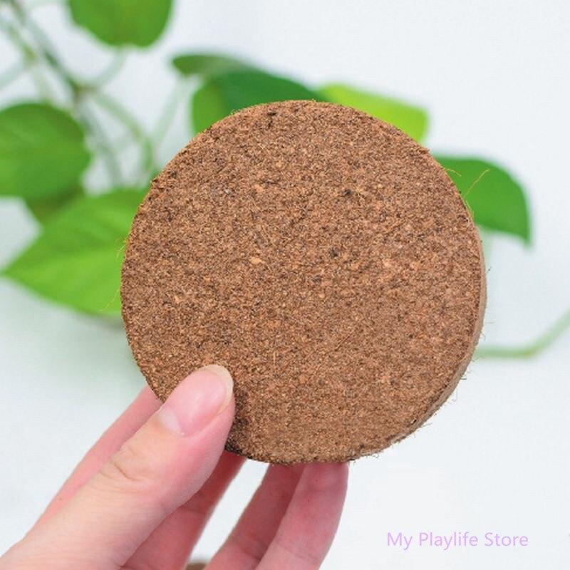 Natural Coconut Fiber Substrate Bricks Soil Essentials For Reptile Amphibian Terrariums Supplies 7.5 X 2.5cm C42