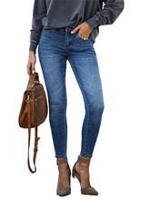 Dżinsy damskie dżinsy dla mamy dżinsy o średniej talii kobieta wysokie elastyczne plus size jeansy ze streczem kobiece sprane dżinsy smukłe spodnie ołówkowe tanie tanio Matteobenni COTTON Poliester Pełnej długości Osób w wieku 18-35 lat 2020 Fashion 9031A WOMEN Na co dzień Plaid Przycisk fly