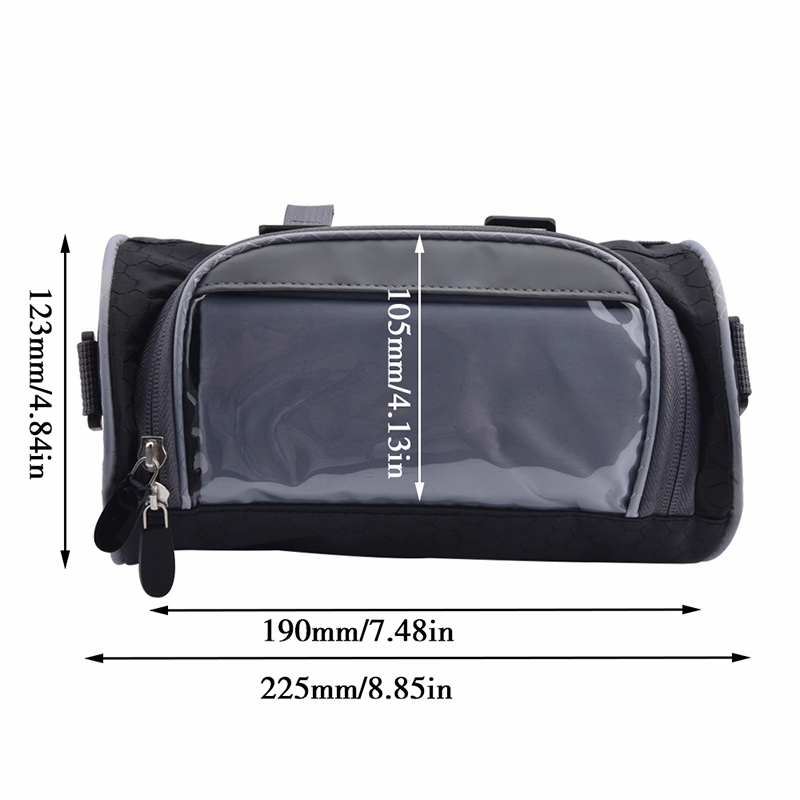 2.5L Motorcycle Windshield Bag Front Handlebar Fork Storage Container HEAD BAG