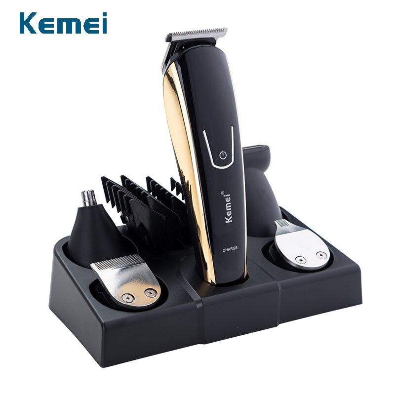 100-240V Kemei 5 In 1 Electric Shaver Hair Trimmer Titanium Clipper Beard Razor Men Styling Tools Shaving Machine For Barber