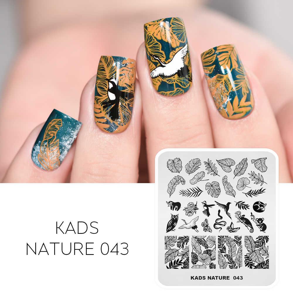 2020 Nail Art Stamp Plateดอกไม้ใบเสือดาวพิมพ์ภาพการออกแบบเล็บแม่แบบเล็บDIY Stencilสำหรับเล็บart