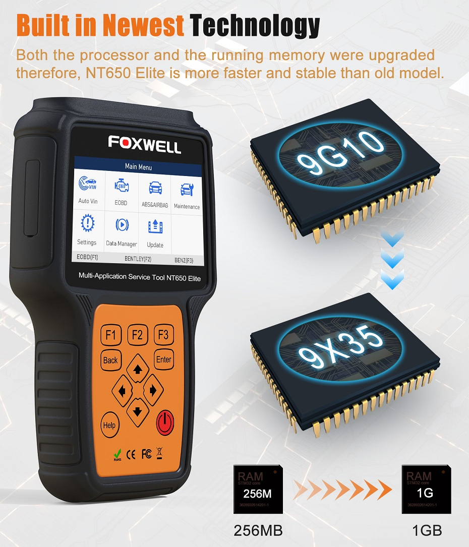 Image 5 - FOXWELL NT650 Elite OBD2 Car Diagnostic Tool ABS SRS Airbag SAS EPB Oil Service DPF TPMS Reset Special function OBDII Scanner-in Air Bag Scan Tools & Simulators from Automobiles & Motorcycles on