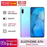 Global Version ELEPHONE A7H Helio P23 4GB 64GB Smartphone 6.4 Android 9.0 3900mAh 13MP Triple Rear Cams Fingerprint Unlock