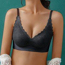 Marca lingerie conforto laço colheita topo ultra-fino fio branco sutiãs para mulher sexy sutiã bordado
