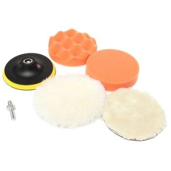 6 Piece Premium polishing sponge Ø 125 mm polishing polishing plate M10 Set for polishing machine   -