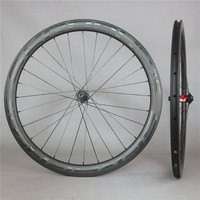 Seraph UCI glossy carbon road 3k twill weave 47*27mm rim clincher wheelset Central lock with DT swiss 240S hub
