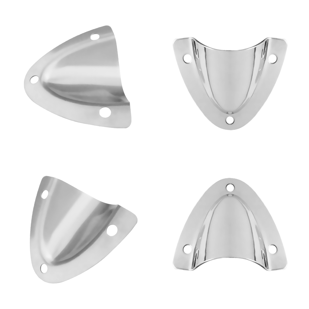 4pcs Boat Clam Shell Vent Ventilator Polished 316 Stainless Steel Hardware