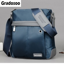 цены Gradosoo Waterproof Messenger Bag Men Business Bag Casual Shoulder Bags For Man Crossbody Bag Oxford Male Travel Bags New HMB674