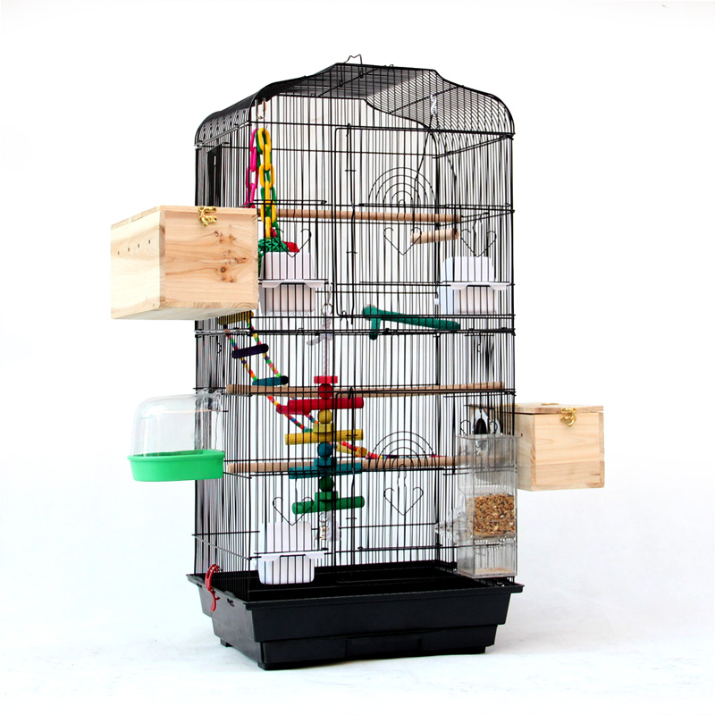 Thrush bird cage large parrot and starling cage giant peony xuanfeng macaw cage bird house wood pet supplies