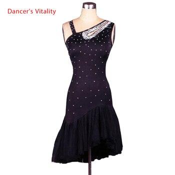 new elegant female latin dance dress Feminina black ballroom cha cha, rumba / samba / latina dresses for the dance.