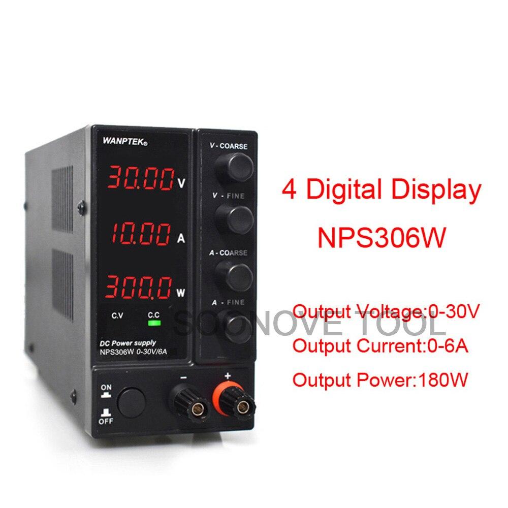 4 display digital ajustável dc fonte de
