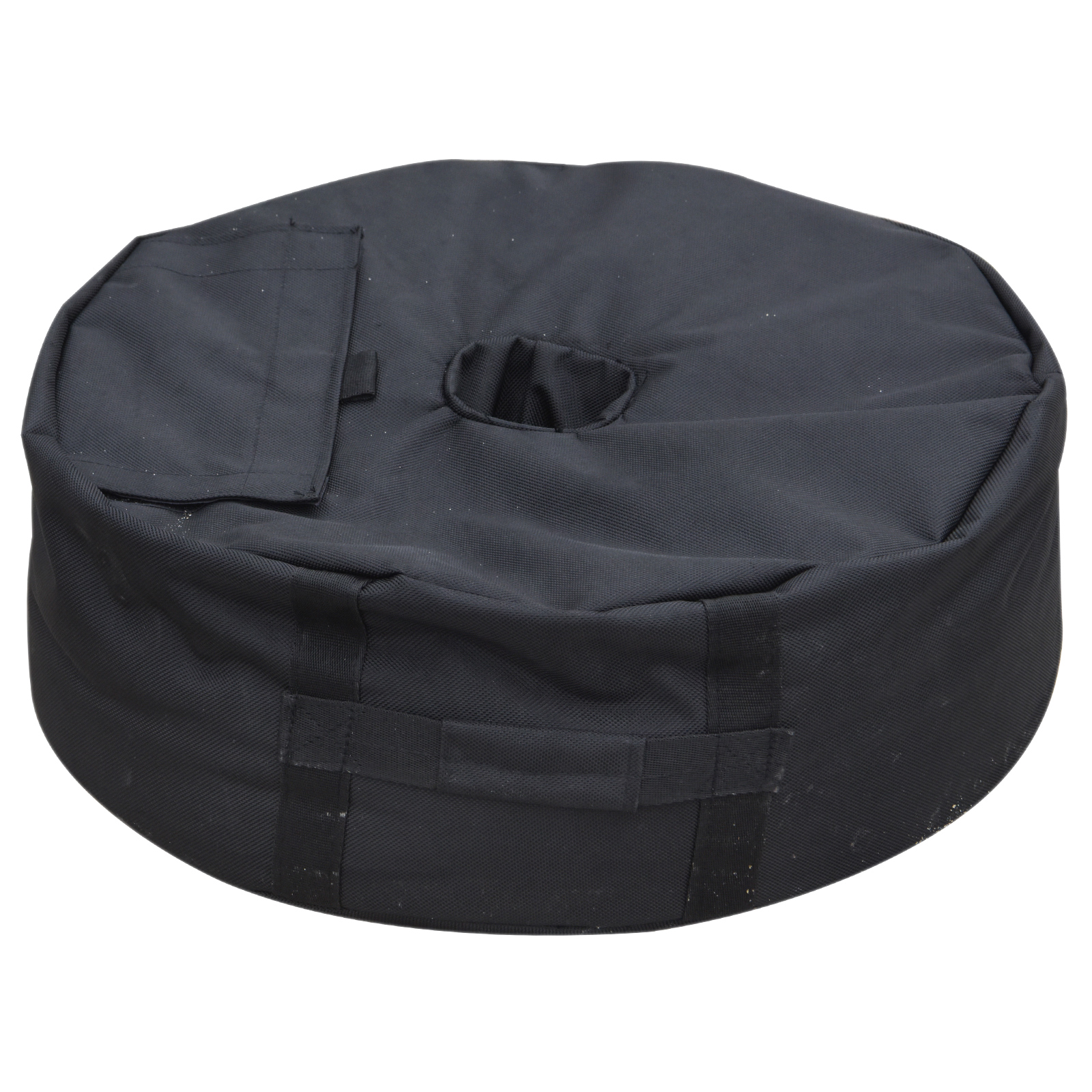 Outsunny Base For Umbrella Fillable With Sand Max. 40Kg For Parasols Diameter 3-6 Cm Oxford Fabric Φ48x18cm Black