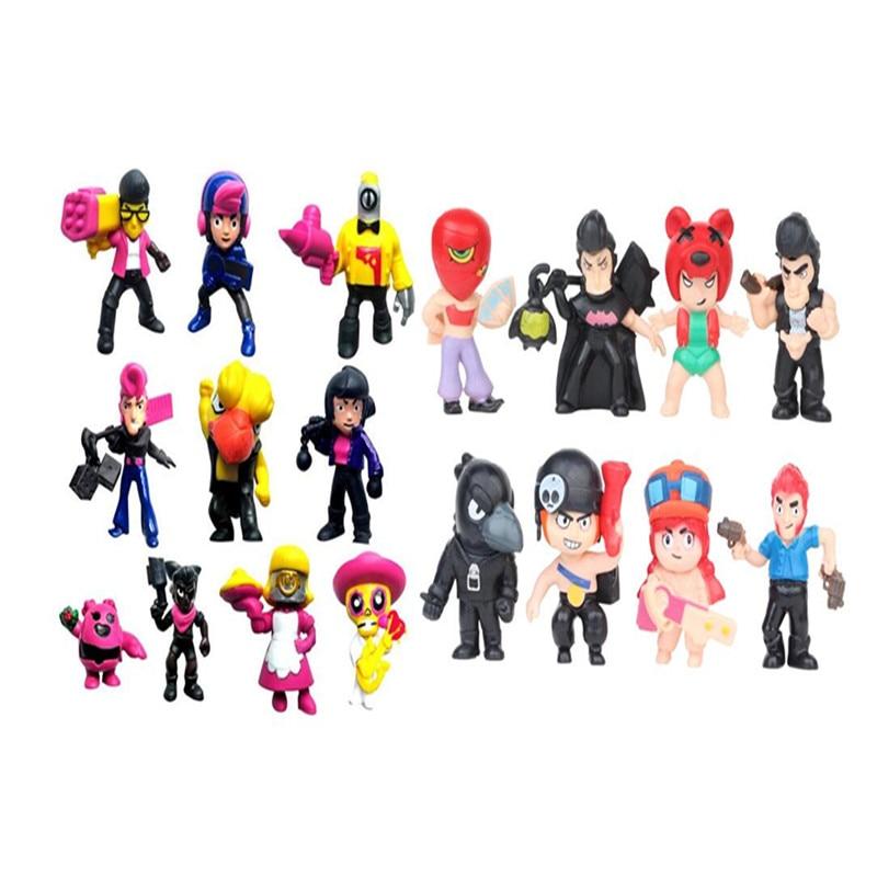 18pcs/set Brawl Stars Action Figure toys Shelly Colt Jessie Brawl Stars Doll Model Toys ヒステリック ミニ 高 画質