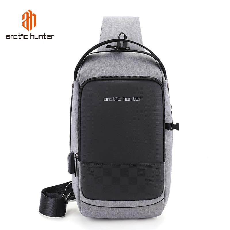 ARCTIC HUNTER 2019 USB Waterproof Men Chest Bag Male Leisure Messenger Shoulder Bag For Teenagers Travel Crossbody Bolsas