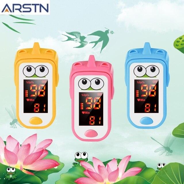 Baby Finger Pulse Oximeter Pediatric Oximetro De Dedo SpO2 Children Kids Fingertip Pulsioximetro Handheld Digital PR Counter LED