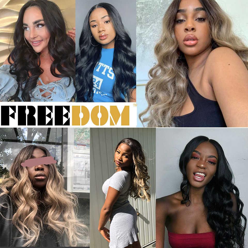 Vrijheid Gratis Afscheid Gemakkelijk 360 Lace Front Synthetische Pruiken Voor Zwarte Vrouwen Ombre Blond Rode Kleur Paardenstaart Supreme Haar Cosplay