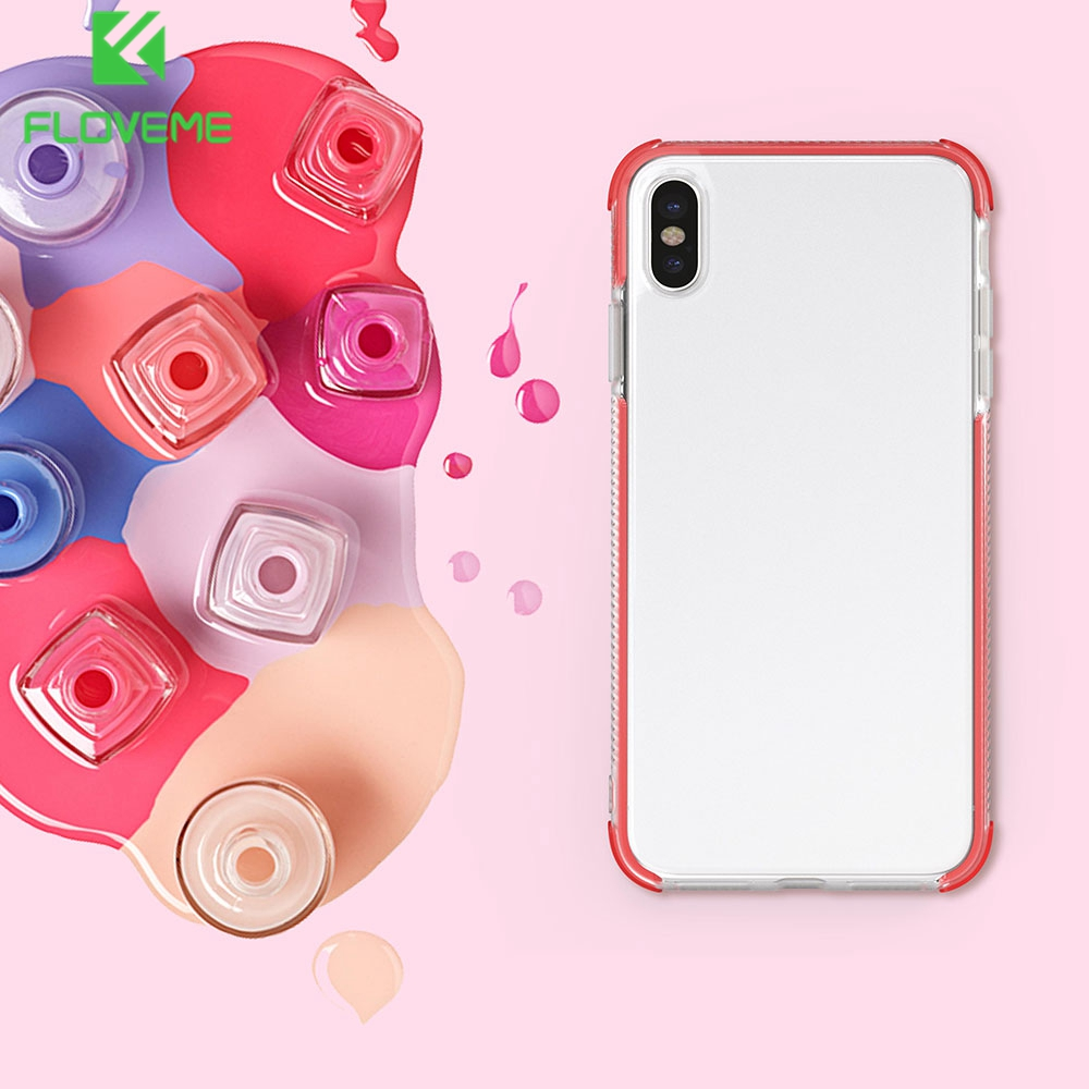 Floveme Phone Case Silicone For Apple Iphone 7 Plus 6 8 Soft Case Cover Shockproof For Iphone Xr Xs Max X 6s Luxury Cover Fundas Waterproof Cases Aliexpress