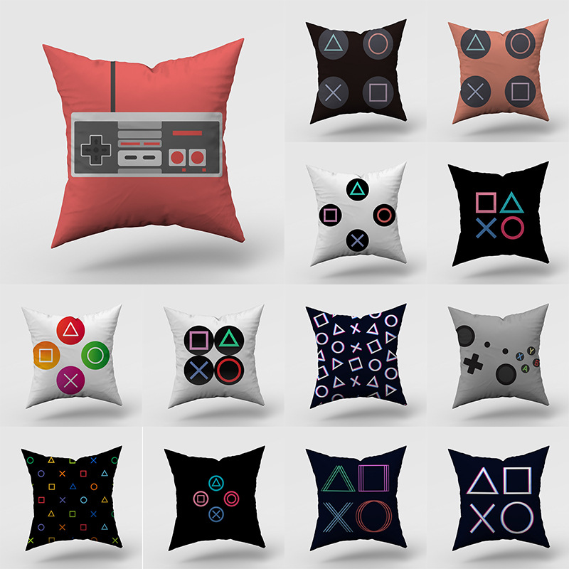 Pillowcase 45 45CM Game Peripheral Gamepad Key Pillowcase Polyester Pillowcase Personalized Decoration Pillowcase