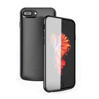 Ultra Slim ładowarka Case telefon pokrywa dla iPhone 6 6s 7 8 X XS przypadku zasilania zewnętrznego ładowarka do iPhone'a 5 5S SE w Etui z funkcją ładowania baterii od Telefony komórkowe i telekomunikacja na