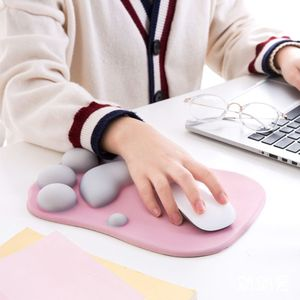 Image 2 - High Quality Cute Cat Paw Mouse Pad Nonslip Silicone Mice Mat PC Computer Wrist Rest Support