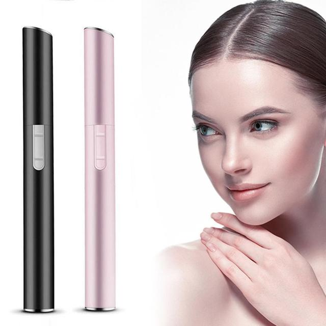 Pink Color Practical Electric Face Eyebrow Scissors Hair Trimmer Mini Portable Women Body Shaver Remover Blade Razor Epilator 4