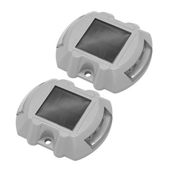 2x aluminiowe wodoodporne lampy do wbudowania energia słoneczna bezpieczeństwo zewnętrzne oświetlenie zewnętrzne zewnętrzne oświetlenie wewnętrzne Accessaries Supplies Part tanie i dobre opinie alloet Żarówki no warranty SOLAR IP65 Underground Lamps Aluminium